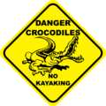 Crocodiles, no kayaking